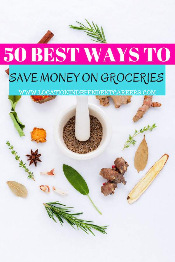 50 BEST WAYS TO SAVE MONEY ON GROCERIES | FRUGAL LIVING | SAVING MONEY TIPS | SAVING MONEY IDEAS | GROCERY BUDGETING | SAVE MONEY ON GROCERIES TIPS | SAVE MONEY ON GROCERIES IDEAS #frugalliving #savings #budgeting #moneysaving